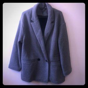 ZARA TRF Grey Oversized Jacket